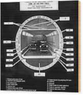 Holland Tunnel Section View Wood Print