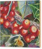 Holly Barries Wood Print