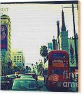 Hollywood Boulevard In La Wood Print