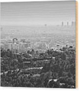 Hollywood From Above Wood Print