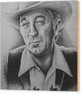 Hollywood Greats -robert Mitchum Wood Print