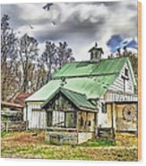 Holmes County Farm Wood Print
