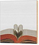 Holy Bible Heart 1 A Wood Print