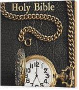 Holy Bible Pocket Watch 1 Wood Print