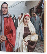 Holy Family At 4th Annual Christmas March For Peace And Unity Wood Print