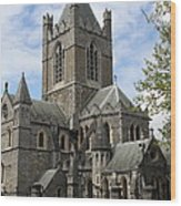 Holy Trinity Cathedral Dublin Wood Print