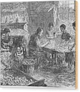 Home Industry, 1871 Wood Print