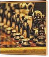 Homemade Chess Wood Print
