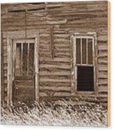 Homestead Past Wood Print