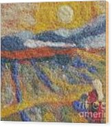 Hommage To Van Gogh Wood Print by Nicole Besack