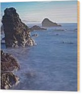 Honda Cove Waters Wood Print