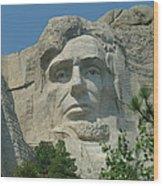 Honest Abe In Stone Wood Print