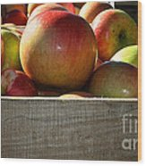 Honey Crisp Wood Print by Susan Herber