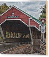 Honeymoon Bridge Wood Print