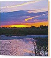 Honeymoon Island Sunset Wood Print