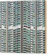 Hong Kong Residential Building Wood Print