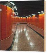 Hong Kong Subway Wood Print