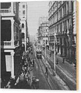Hong Kong Vintage Street Scene - C 1913 Wood Print