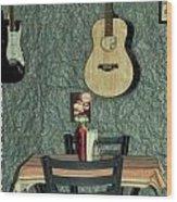 Honky Tonk Cafe Wood Print