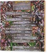 Honolulu Zoo Signs Wood Print