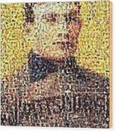 Honus Wagner Mosaic Wood Print by Paul Van Scott