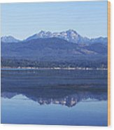 Hood Canal Reflection  Wood Print