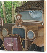 Hood Ornament Disney Bear Wood Print