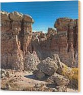 Hoodoos At Gooseberry Desert Wyoming Wood Print