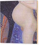 Hope I 1903 By Gustav Klimt Wood Print