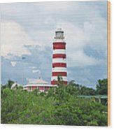 Hopetown Lighthouse Wood Print