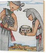 Hopi Manas I Wood Print