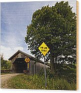 Hopkins Covered Bridge Wood Print