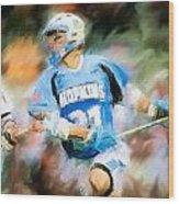 College Lacrosse Midfielder Wood Print