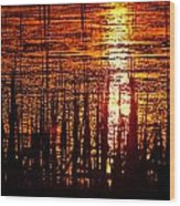 Horicon Marsh Sunset Wisconsin Wood Print