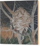 Hornet's Nest Wood Print by Terry Forrest