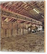 Horse Barn Barbour County Wood Print