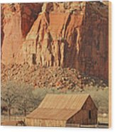 Horse Barn In Fruita Utah Wood Print