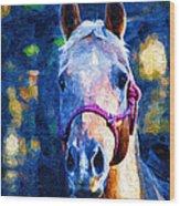 Horse Beautiful Wood Print