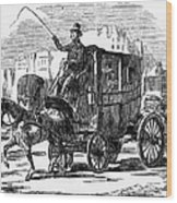 Horse Carriage, 1853 Wood Print