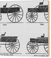 Horse Carriages, 1810-1860 Wood Print
