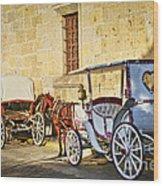 Horse Drawn Carriages In Guadalajara Wood Print