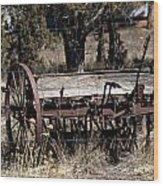 Horse Drawn Planter Wood Print