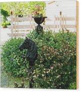 Horse Hitching Post 2 Wood Print