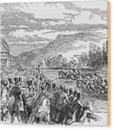 Horse Racing, 1850 Wood Print