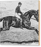 Horse Racing, 1880s Wood Print by Granger