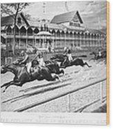 Horse Racing, 1889 Wood Print