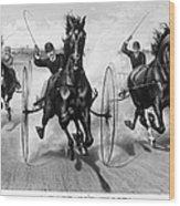 Horse Racing, 1890 Wood Print