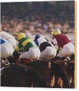 Horse Racing, Phoenix Park, Dublin Wood Print