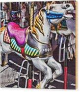 Horse Ride Wood Print
