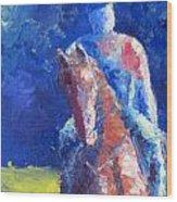 Horse Rider Wood Print